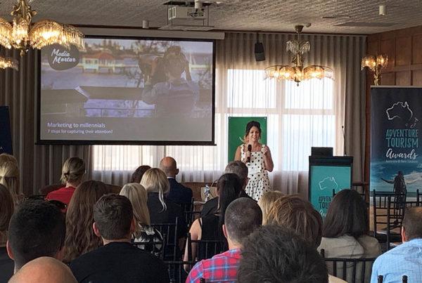 Media Mortar_Marketing to millennials_Hannah Statham presenting at Adventure Queensland