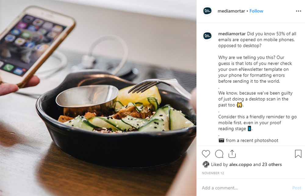 Media Mortar | Content Marketing Agency Brisbane | Instagram caption cures - Brisbane Airport Lord Lamington