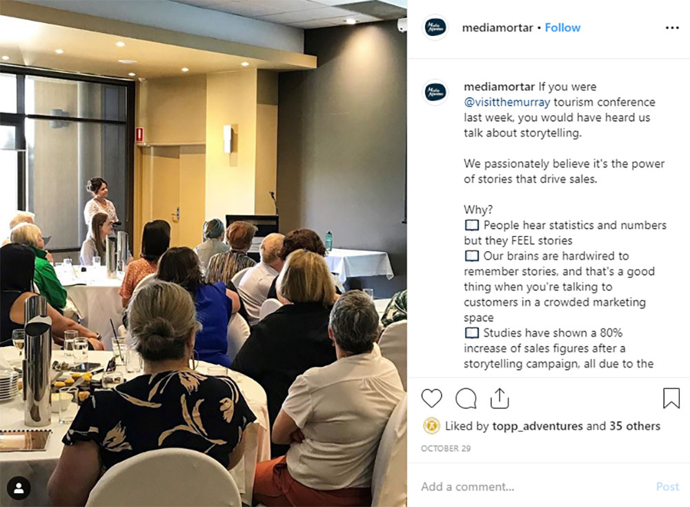 Media Mortar | Content Marketing Agency Brisbane | Instagram caption cures - Media Mortar Digital Training