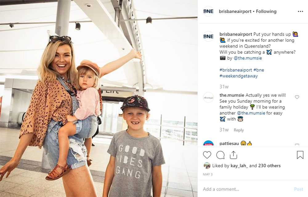 Media Mortar | Content Marketing Agency Brisbane | Instagram caption cures - Brisbane Airport Weekend Travels