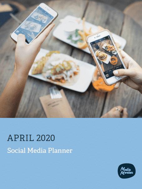 Social Media Calendar - April 2020
