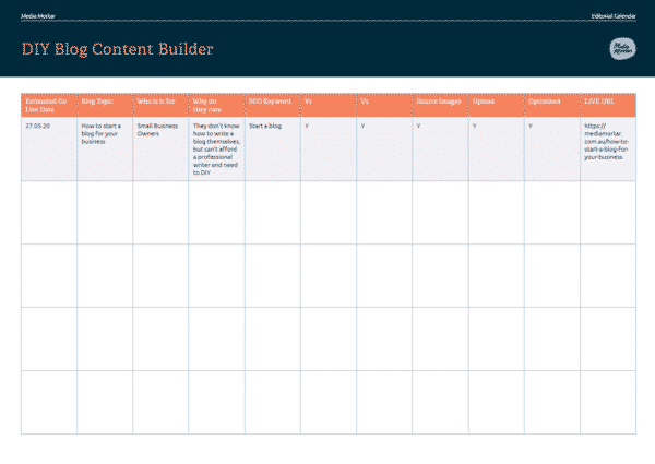 DIY Blog Content Builder